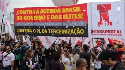 Contra o ajuste fiscal e a Agenda Brasil. Ato 20 de agosto de 2015