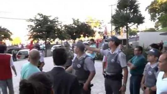 Truculência da Polícia Militar contra trabalhadores da Medley
