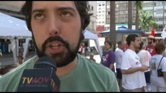 Mobilização contra privatizações em Campinas