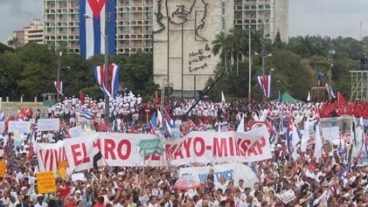 1º de maio em Cuba 2015